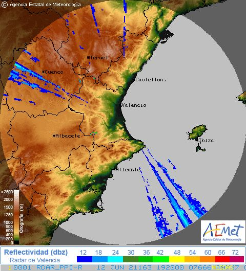 Radar Valencia Meteocalpe Weather And Webcam On The Costa Blanca